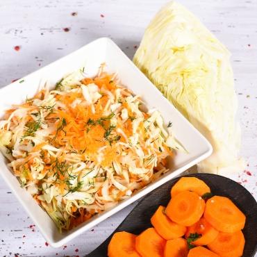 Salată Varză albă, morcov, mărar, 200g