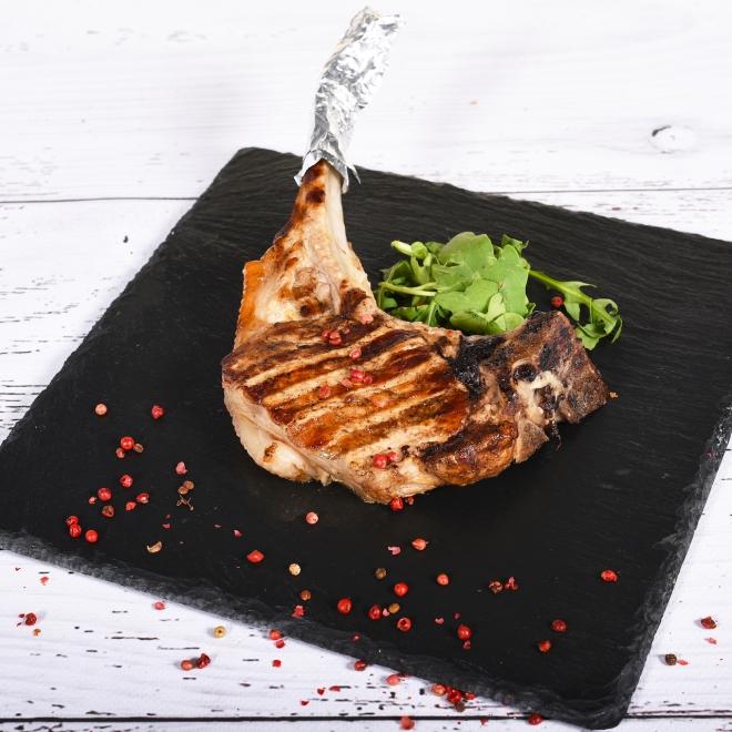 Tomahawk de porc grill, 350g