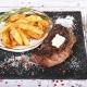 Mușchi de vită grill cu cartofi prăjiți, 200g