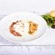 Supă cremă de cartofi cu bacon crocant și ulei de trufe, 250ml/50g